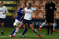 Maeva Clemaron of Everton women and Rianna Dean of Tottenham Hotspur women  during Tottenham Hotspur Women vs Everton Women, Barclays FA Women's Super League Football at the Hive Stadium on 12th February 2020