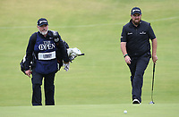 Shane Lowry (IRL) & caddie Brian Martin during the Final Round of the 148th Open Championship, Royal Portrush Golf Club, Portrush, Antrim, Northern Ireland. 21/07/2019. Picture David Lloyd / Golffile.ie<br /> <br /> All photo usage must carry mandatory copyright credit (© Golffile | David Lloyd)