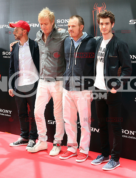 Matt Tolmach, Rhys Ifans, Marc Webb, Andrew Garfield - The Amazing Spider-Man - photocall in Madrid NORTEPHOTO.COM<br />