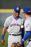 South Bend Cubs right fielder Eddy Martinez (15) before a game against the Dayton Dragons on May 11, 2016 at Fifth Third Field in Dayton, Ohio.  South Bend defeated Dayton 2-0.  (Mike Janes/Four Seam Images)