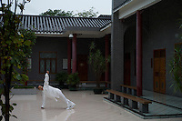 A martial artist practises at the Traditional Chinese Medicine Centre in the Xianhu resort of Nanhai district in Foshan city, Guangdong province, November 9, 2011.