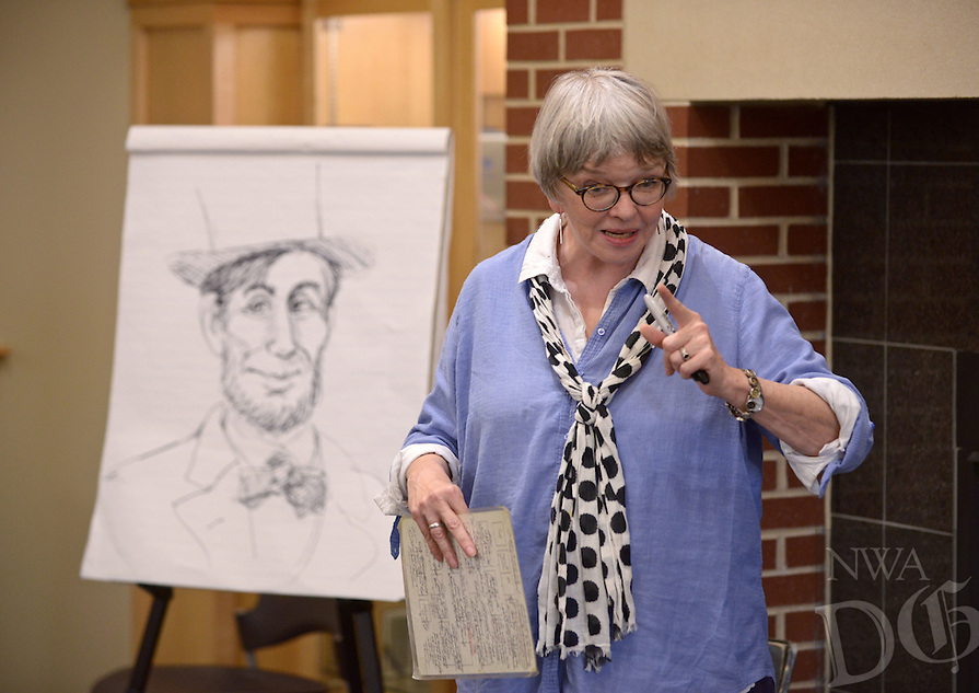 NWA Democrat-Gazette/BEN GOFF @NWABENGOFF<br /> Cheryl Harness, an illustrator and author from Independence, Mo., gives a talk on Saturday April 23, 2016 during the 2nd Annual Bentonville Youth Literature Festival at the Bentonville Public Library.