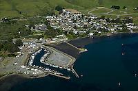 aerial photograph Bodega Bay, Sonoma County, California