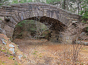 One of the many stone bridges located in Acadia National Park, USA. This bridge is located on one of the carriage roads near Bubble pond..