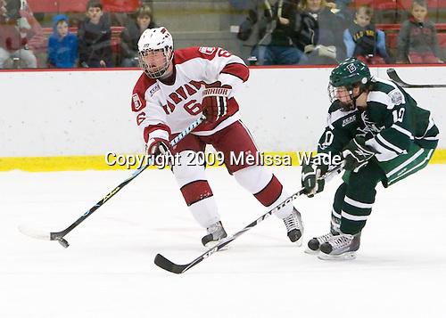 Ryan Grimshaw (Harvard - 6), Matt Reber (Dartmouth - 10) - The Harvard University Crimson defeated the Dartmouth College Big Green 4-1 (EN) on Monday, January 18, 2010, at Bright Hockey Center in Cambridge, Massachusetts.