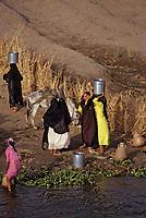 Afrique/Egypte: Scène de vie sur les bords du Nil - Lessive