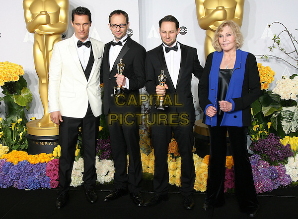 02 March 2014 - Hollywood, California - Matthew McConaughey, Laurent Witz, Alexandre Espigar, Kim Novak. 86th Annual Academy Awards held at the Dolby Theatre at Hollywood &amp; Highland Center. <br /> CAP/ADM<br /> &copy;AdMedia/Capital Pictures