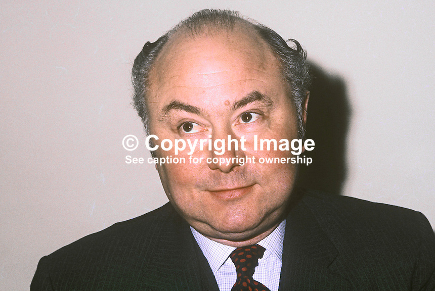 William Van Straubenzee, Minister of State for N Ireland, 1972 to 1974, 197212310807a<br />