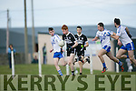Ardfert's Brandon Barrett get away from st. Mary's Anthony Cournane, Conor Quirke and Bryan Sheehan at the Intermediate Club Football Championship 2016 Ardfert Football Club vs St Mary's at  Ardfert GAA on Saturday