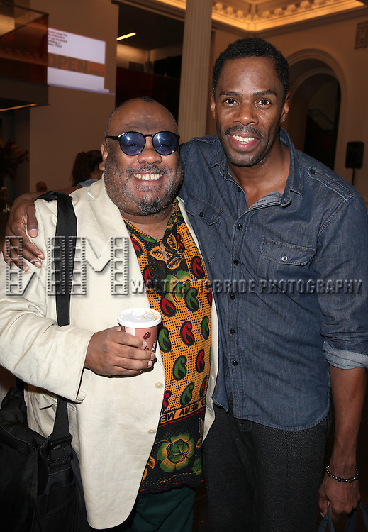 Stew and Coleman Domingo attending the Unveiling of the Revitalized Public Theater at Astor Place in New York City on 10/4/2012.
