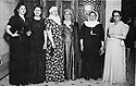Egypt 1945 .Right, Ruchen Bedir Khan in Cairo during the congress of the Arab women Union .Egypte 1945 .A droite, Ruchen Bedir Khan au congres de l'union des femmes arabes au Caire