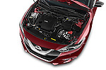 Car Stock 2016 Nissan Maxima Platinum 4 Door Sedan Engine  high angle detail view