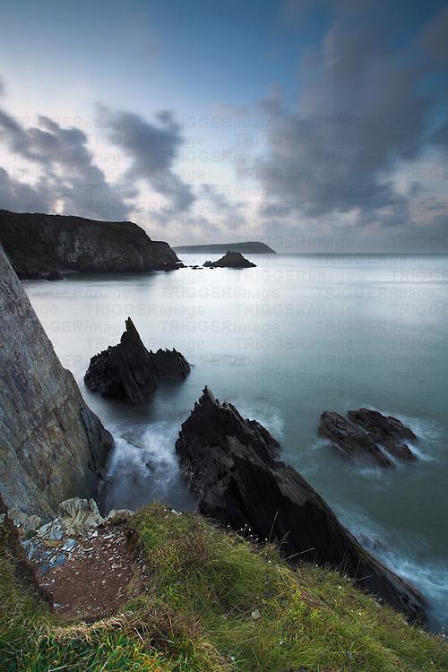 Parrog, near Newport, looking towards Dinas Head, Pembrokeshire, Wales