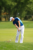 Martin Kaymer (GER) on the 1st fairway during Round 1 of the D+D Real Czech Masters at the Albatross Golf Resort, Prague, Czech Rep. 31/08/2017<br /> Picture: Golffile | Thos Caffrey<br /> <br /> <br /> All photo usage must carry mandatory copyright credit     (&copy; Golffile | Thos Caffrey)