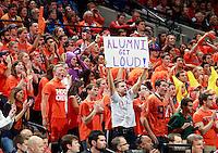 Virginia fans watch the Virginia vs. Duke ACC basketball game Jan. 31, 2015 in Charlottesville, VA. Duke won 69-63.