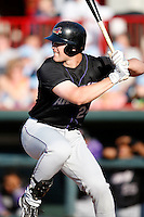 May 30, 2009:  Beau Mills of the Akron Aeros during a game at Jerry Uht Park in Erie, PA.  The Aeros are the Double-A Eastern League affiliate of the Cleveland Indians.  Photo By Mike Janes/Four Seam Images