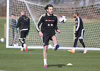 Pictured: Michu. Saturday 08 March 2014<br /> Re: Swansea City FC training at the Fairwood Training ground in the outskirts of Swansea, south Wales.