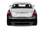 Straight rear view of 2018 Rollsroyce Ghost - 4 Door Sedan Rear View  stock images