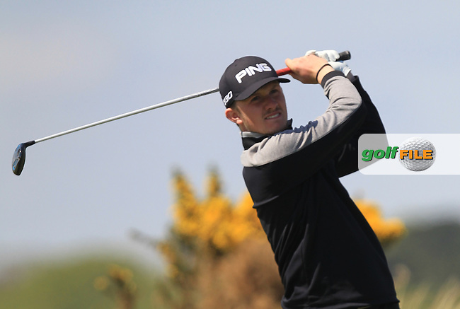 Connor Syme (SCO) on the 8th tee during Round 4 of the Flogas Irish Amateur Open Championship at Royal Dublin on Sunday 8th May 2016.<br /> Picture:  Golffile / Thos Caffrey