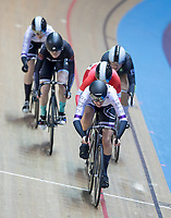 25th January 2020; National Cycling Centre, Manchester, Lancashire, England; HSBC British Cycling Track Championships; Rebecca Howard leads out the Female Keirin heat 1