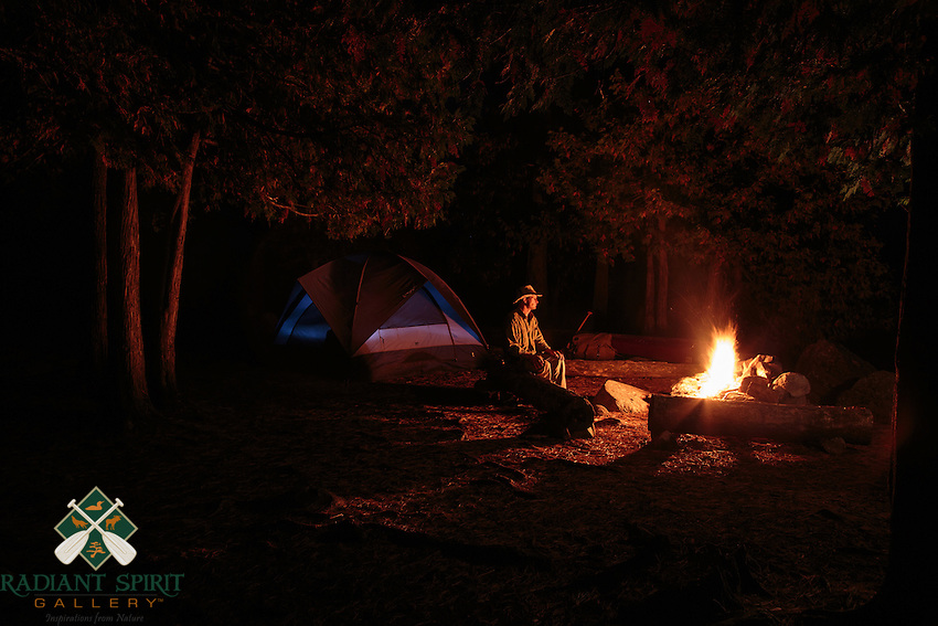 &quot;Campfire Glow&quot;<br /> <br /> The warm glow of an evening campfire cuts the chill on crisp autumn evenings and provides fertile ground for dreams.<br /> ~ Day 192 of Inspired by Wilderness: A Four Season Solo Canoe Journey