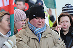 Cllr Paul Bell at the march against the closure of the Cottage Hospital. Photo: Colin Bell/pressphotos.ie
