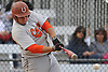 Anthony Catapano #24, Carey first baseman, picks up his third hit of the afternoon in the top of the fourth inning of a Nassau County varsity baseball game against host Garden City High School on Monday, May 9, 2016. He drove in four runs in Carey's win.