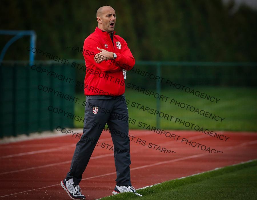 Fudbal Soccer<br /> International Friendly-Prijateljski mec<br /> Srbija U17 v Belorusiaj U17<br /> Head coach Ilija Stolica<br /> Stara Pazova, 20.09.2016<br /> foto: Srdjan Stevanovic/Starsportphoto &copy;