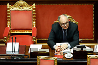 The Italian Minister of Economy Roberto Gualtieri at the Senate during the discussion and vote for the updating of the budget document for 2020. Rome (Italy), July 29th 2020<br /> Photo Samantha Zucchi Insidefoto
