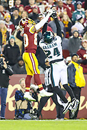 Landover, MD - December 30, 2018: Philadelphia Eagles free safety Corey Graham (24) breaks up a pass during the  game between Philadelphia Eagles and Washington Redskins at FedEx Field in Landover, MD.   (Photo by Elliott Brown/Media Images International)