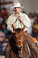 SAN ANTONIO, TX - FEBRUARY 17, 2008: The First Annual South Texas Ranch Rodeo Finals held in Horsebarn #2 on the grounds of the San Antonio Stock Show & Rodeo. (Photo by Jeff Huehn)