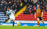 Blackburn Rovers' Adam Armstrong scores the opening goal <br /> <br /> Photographer Alex Dodd/CameraSport<br /> <br /> The EFL Sky Bet Championship - Blackburn Rovers v Hull City - Saturday 26th January 2019 - Ewood Park - Blackburn<br /> <br /> World Copyright © 2019 CameraSport. All rights reserved. 43 Linden Ave. Countesthorpe. Leicester. England. LE8 5PG - Tel: +44 (0) 116 277 4147 - admin@camerasport.com - www.camerasport.com