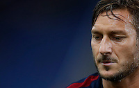 Calcio, Serie A: Roma, stadio Olimpico, 21 settembre 2016.<br /> Roma's Francesco Totti warms up before to the start of the Serie A soccer match between Roma and Crotone at Rome's Olympic stadium, 21 September 2016. Roma won 4-0.<br /> UPDATE IMAGES PRESS/Isabella Bonotto