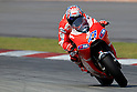 February 4, 2010 - Kuala Lampur, Malaysia - Australian rider Casey Stoner (Ducati Marlboro Team) powers his bike for testing on Sepang International Circuit on February 4, 2010. (Photo Andrew Northcott/Nippon News)