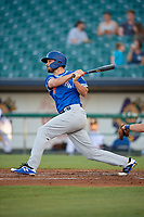 Oklahoma City Dodgers Cameron Perkins (28) at bat during a Pacific Coast League game against the New Orleans Baby Cakes on May 6, 2019 at Shrine on Airline in New Orleans, Louisiana.  New Orleans defeated Oklahoma City 4-0.  (Mike Janes/Four Seam Images)