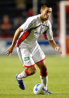 New England Revolution midfielder Clint Dempsey (2) dribbles the ball.  TThe Chicago Fire defeated the New England Revolution 2-1 in the quarterfinals of the U.S. Open Cup at Toyota Park in Bridgeview, IL on August 23, 2006...