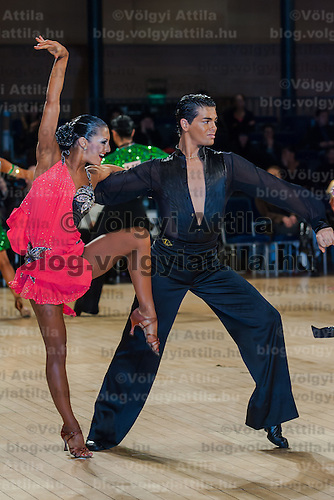 Christophe Licata and Coralie Anfray from France perform their dance during the Professional Rising Stars Latin competition of the United Kingdom Open Dance Championships held in Bournemouth International Centre, Bournemouth, United Kingdom. Tuesday, 19. January 2010. ATTILA VOLGYI