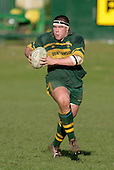 Pukekohe prop M. Hallsell. Counties Manukau Premier Club Rugby, Pukekohe v Waiuku  played at the Colin Lawrie field, on the 3rd of 2006.Pukekohe won 36 - 14
