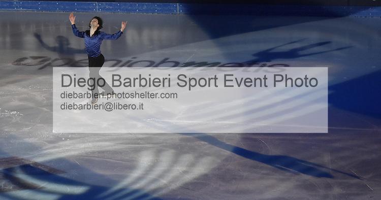 21 dicembre 2014 - TORINO - ITALIA: Si svolge il consueto Golden Skate Awards al Palavela di Torino, quest'anno come gala conclusivo dei Campionati Italiani di Pattinaggio di figura senior.<br /> <br /> 21th december 2014 - TURIN - ITALY: Golden Skate Awards is at Palavela as Italian Senior Figure Ice Skating Nationals .<br /> Stephane Lambiel