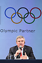 Thomas Bach (President of the International Olympic Committee) appear at a ceremony on MARCH 13, 2015 in Tokyo, Japan to announce Toyota's sponsorship of the Olympic movement. Japanese auto maker Toyota signed up to become a top level Official Worldwide Olympic Partner. (Photo by Yohei Osada/AFLO SPORT) [1156]