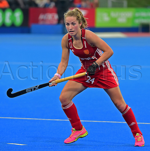30.08.2015. Lea Valley, London, England. Unibet EuroHockey Championships Day 10. Gold Medal Final. England versus Netherlands. Shona McCallin (ENG) in the gold medal final