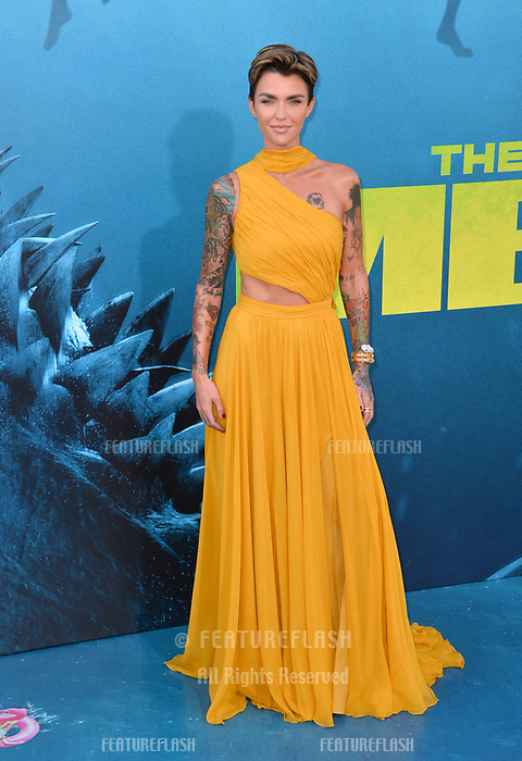 """LOS ANGELES, CA - August 06, 2018: Ruby Rose at the US premiere of """"The Meg"""" at the TCL Chinese Theatre"""