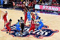Washington, DC - September 8, 2019: Overhead view of the tip-off to the game between the Chicago Sky and Washington Mystics at the Entertainment and Sports Arena in Washington, DC. The Mystics locked up the #1 seed in the Playoffs by defeating the Sky 100-86. (Photo by Phil Peters/Media Images International)