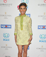 Melody Thornton at the Football For Peace Initiative Dinner by Global Gift Foundation, Corinthia Hotel, Whitehall Place, London, England, UK, on Monday 08th April 2019.<br /> CAP/CAN<br /> ©CAN/Capital Pictures