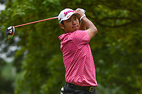 Hideki Matsuyama (JPN) watches his tee shot on 4 during Rd3 of the 2019 BMW Championship, Medinah Golf Club, Chicago, Illinois, USA. 8/17/2019.<br /> Picture Ken Murray / Golffile.ie<br /> <br /> All photo usage must carry mandatory copyright credit (© Golffile   Ken Murray)