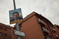 Spagna Barcellona  Elezioni all'assemblea catalana 25 Novembre 2012 Esquerra republicana de Catalunya partito politico nazionalista catalano manifesto elettorale del presidente Oriol Junqueras