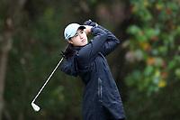 CHAPEL HILL, NC - OCTOBER 13: Nicole Lu of the University of North Carolina tees off at UNC Finley Golf Course on October 13, 2019 in Chapel Hill, North Carolina.