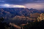 South Rim Grand Canyon taken near Yaki Point sunset light on rock formations Arizona State