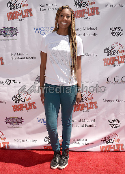 30 August 2015 - Los Angeles, California - Chantelle Anderson. 3rd Annual Kailand Obasi Hoop-Life Friendraiser held at The Galen Center at USC. Photo Credit: Birdie Thompson/AdMedia