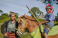 A young Pasola warrior from Tosi, Kodi, with his father, who has been nearly blinded in previous event. Pasola is an ancient tradition from the Indonesian island of Sumba. Categorized as both extreme traditional sport and ritual, Pasola is an annual mock horse warfare performed in response to the harvesting season. In the battelfield, the Pasola warriors use blunt spears as their weapon. However, fatal accident still do occurs.